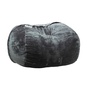 Ariika Big Sac Grey Fur Bean Bag