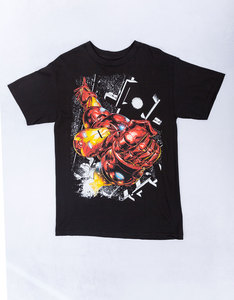 Mad Engine Iron Man Star Scope Black T-Shirt