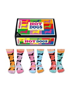 United Oddsocks Hot Dogs Ladies Socks [Set of 3 Pairs]