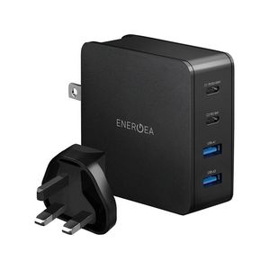 Energea Travelite PD66 2 USB-C PD + 2 USB-A QC3.0 66W Black Wall Charger