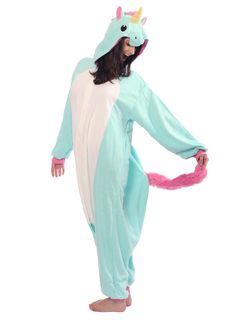 d9d31e901 Blue Unicorn Kigurumi Adult Fleece Costume | Costumes & Dress-Up ...