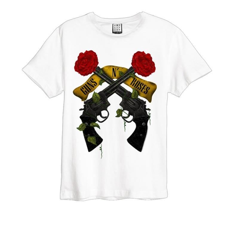 Amplified Guns N Roses Shooting Roses White Men S T Shirt L Tops