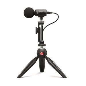 Shure MV88+ Video Kit with Digital Stereo Condenser Microphone [For Apple and Android]