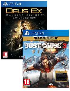 Deus Ex Mankind Divided Steel Book Edition + Just Cause 3 Gold Edition