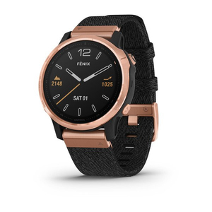 Garmin Fenix 6S Sapphire 42mm Rose Gold Black with Nylon Band Smart Watch
