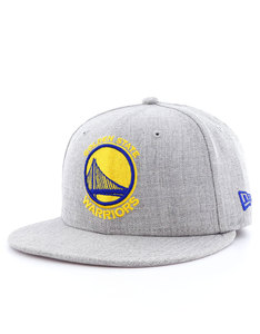 New Era NBA Heather Fitted Gs Warriors Gray Cap