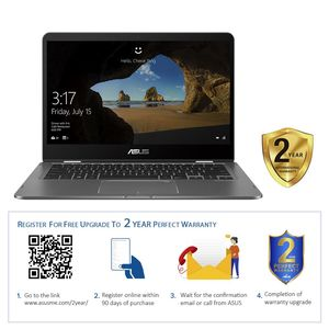 "Asus ZenBook Flip UX461FN-E1022TS i7-8565U/16GB/512GB SSD/GeForce MX150 2GB/14"" FHD/60Hz/Windows 10/Grey"