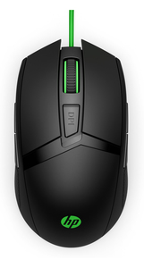 HP Pavilion 300 Black/Green Gaming Mouse