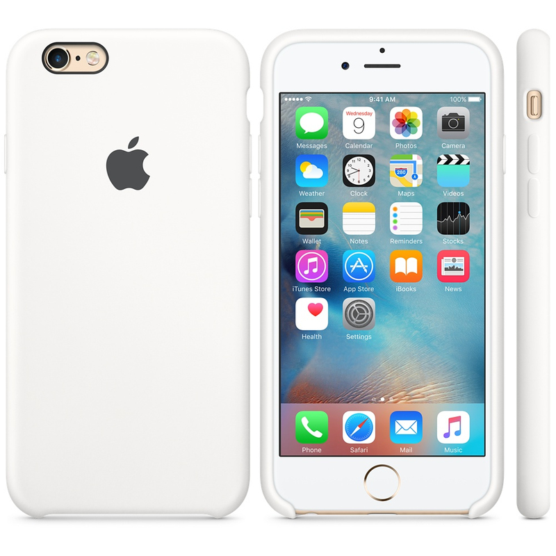 Apple Silicone Case White iPhone 6S