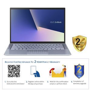 "Asus ZenBook UX431FN-AN053T i7-8565U/16GB/512GB SSD/GeForce MX150 2GB/14"" FHD/60Hz/Windows 10/Silver Blue Metal"