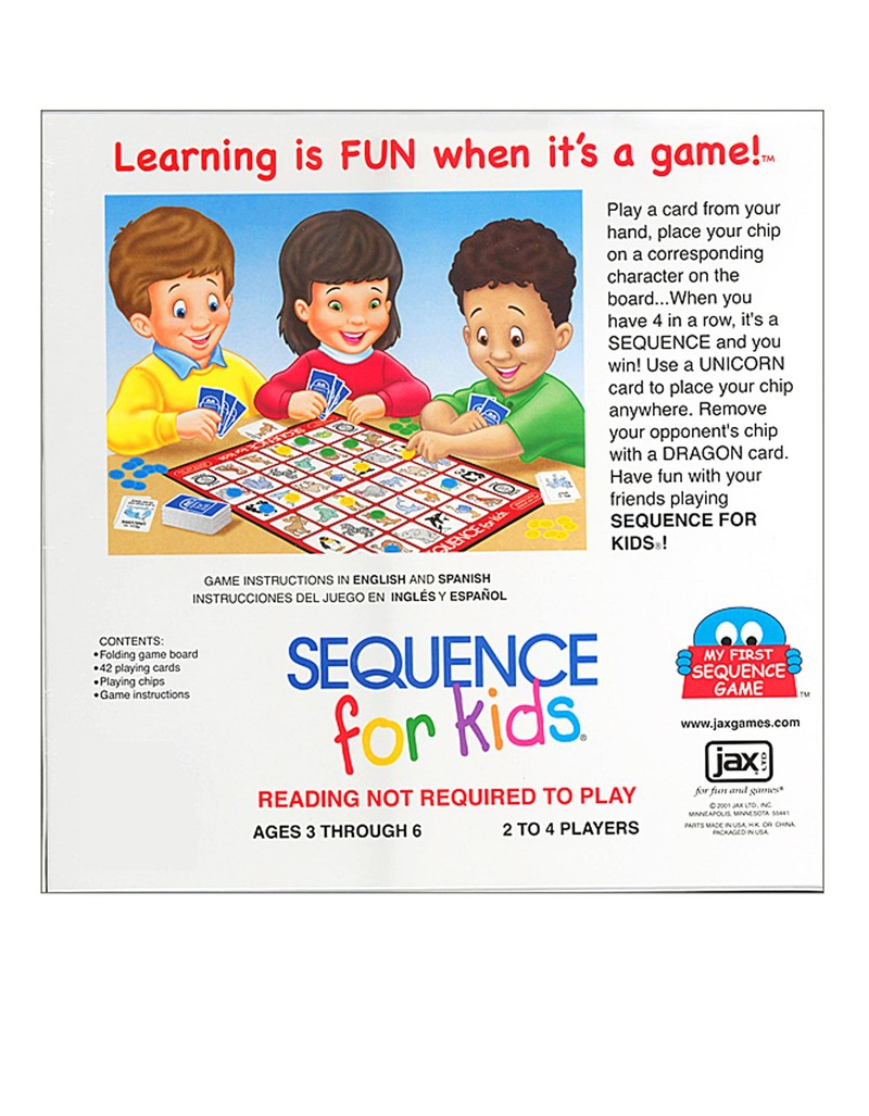Jax Sequence Kids Board Game Family Games Games Puzzles
