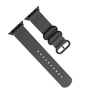 Promate Nylox-42 Grey Trendy Nylon Fiber with Metal Deployment Buckle for 42mm Apple Watch