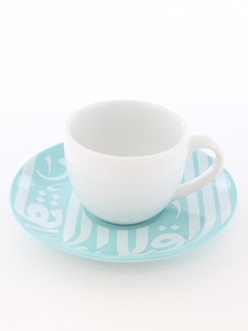 Silsal Ghida's Espresso Cup & Saucer Turquoise