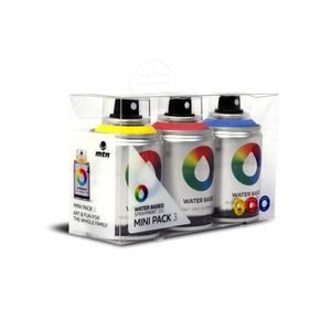 Montana Colors Water Based 100 Spray Paint Workshop Pack Colors [Pack of 3]