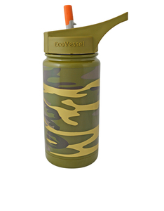 EcoVessel Frost Camouflage Kids Water Bottle 400ml