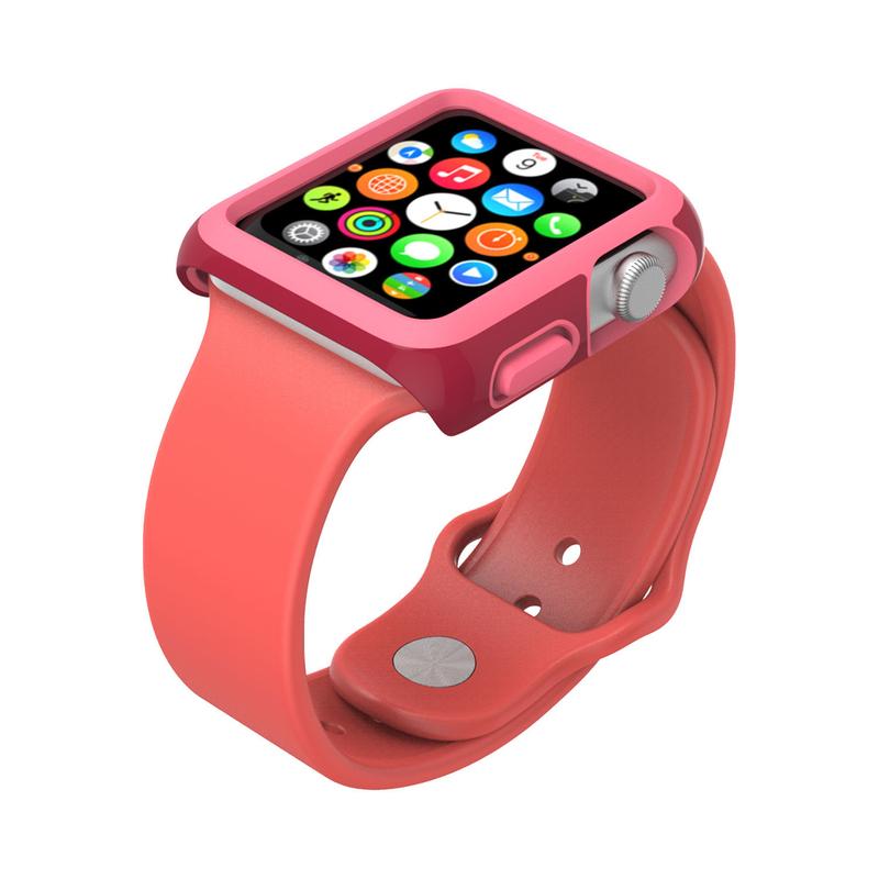 Speck Candyshell Fit Crimson Red/Splash Pink Apple Watch 38mm   Smart ...