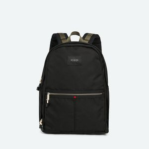 State Bags Bedford Black Polyester Canvas Backpack