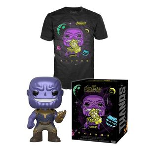 Funko Pop Tees Marvel Thanos In Space Unisex T-Shirt Black