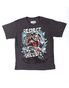 Mad Engine Spider-Man Show Respect Charcoal Heather Youth T-Shirt