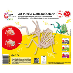 Marabu 3D Puzzle Praying Mantis