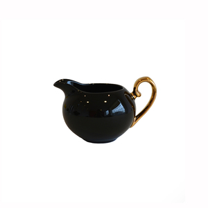 Bombay Duck Smitten Black & Gold Milk Jug