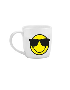 Smiley Emoticon Sunglasses White Espresso Cup 7.5cl