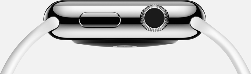 Apple Watch Sport 42mm Stainless Steel Case White Band