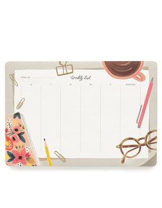 Rifle Paper Co Desktop Weekly Deskpad