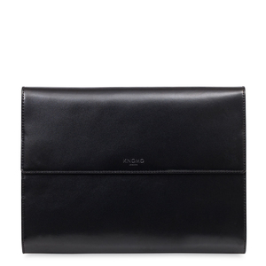 Knomo Knomad Air Zip Leather Black Portable Organiser