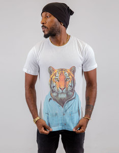 Saint Noir Tiger White T-Shirt