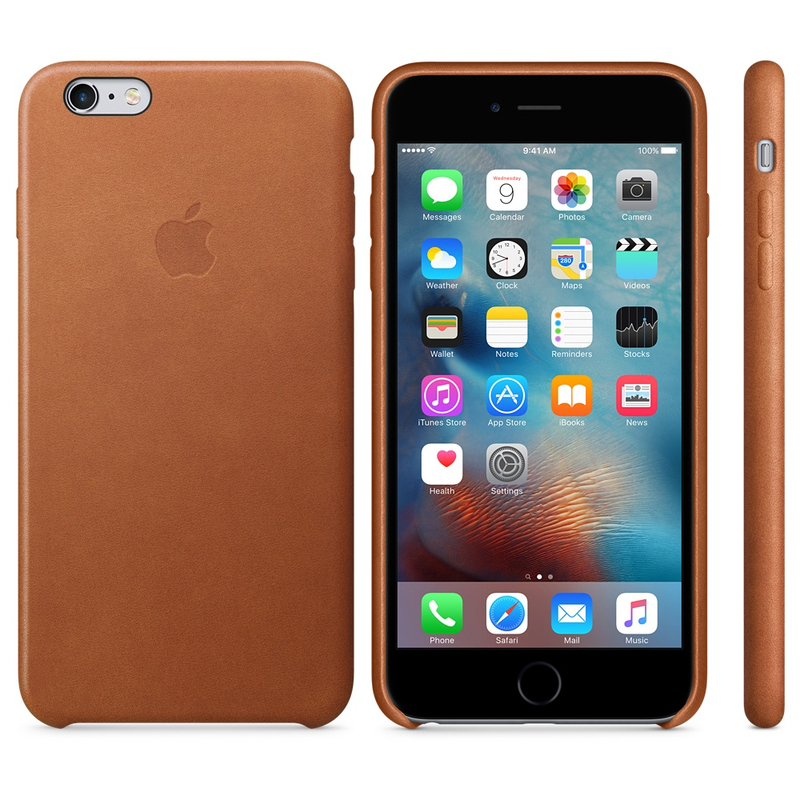 Apple Leather Case Saddle Brown iPhone 6S Plus
