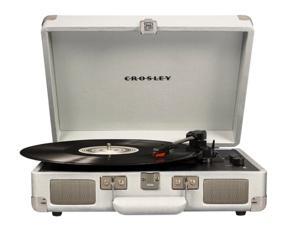 Crosley Cruiser Deluxe Turntable White Sand