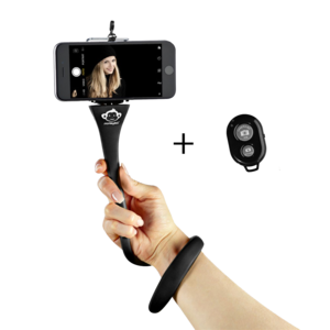 Monkey Stick Flexi Selfie Stick Black