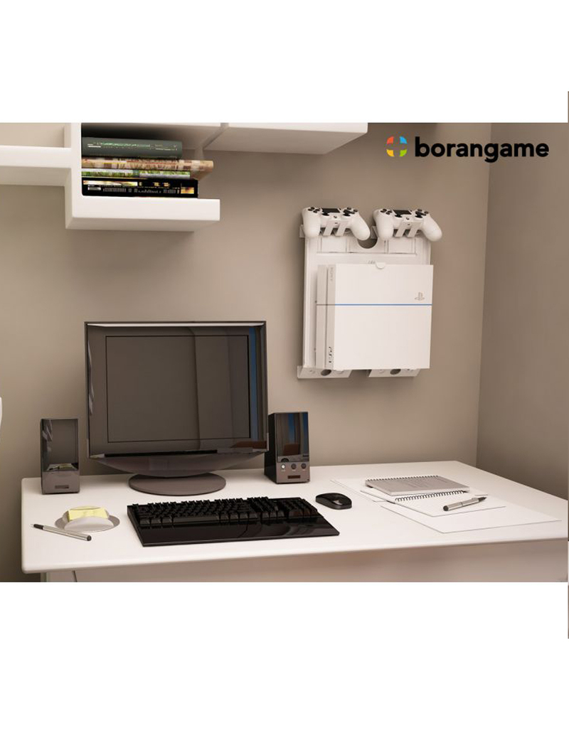 borangame gameside game console vertical wall mount white. Black Bedroom Furniture Sets. Home Design Ideas