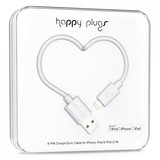 Happy Plugs Lightning To Usb Charge/Sync White Cable 2M