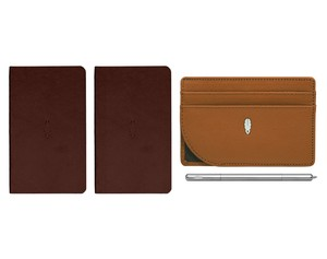 Inscribe Journals + Wallet + Pen Set Brown Amber