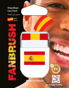 Fanbrush Spain Flag Face Paint