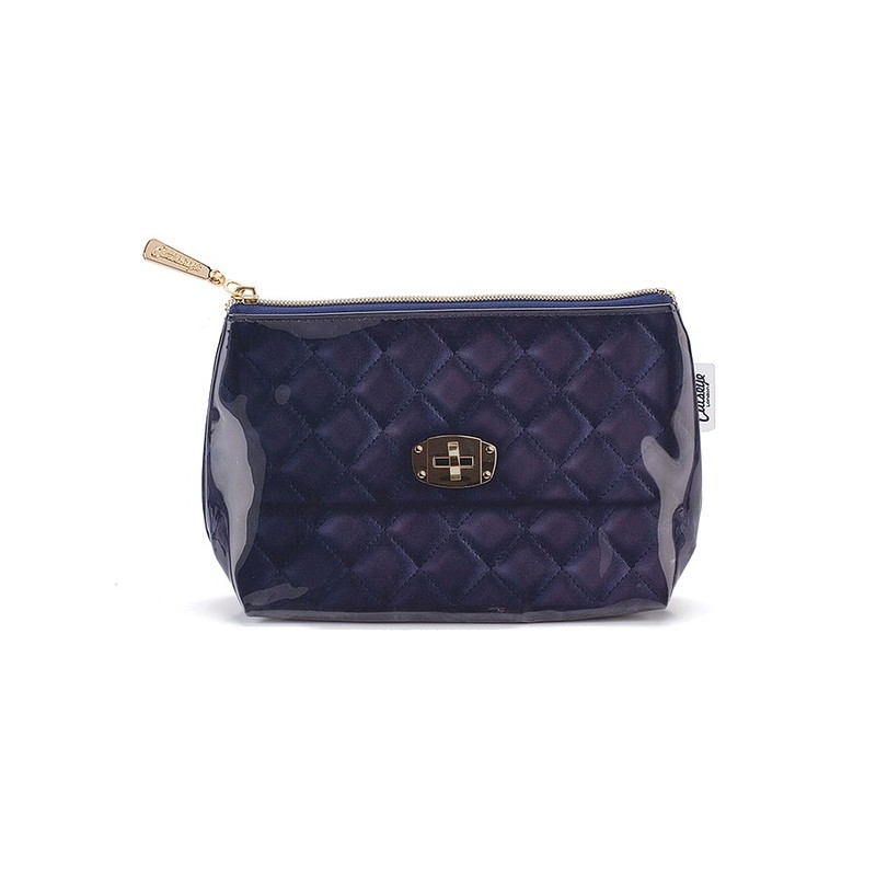 Cats Eye Navy Quilted Small Bag