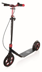 Globber One NL 230 Ultimate Titanium/Ruby Red Foldable Scooter