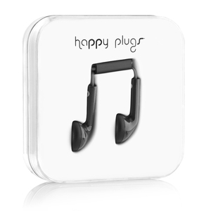 Happy Plugs Black Earphones