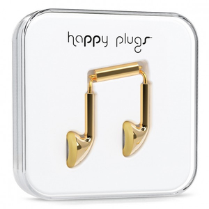 Happy Plugs Earbud Gold Earphones