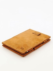 Garzini Cavare Magic Wallet Vintage Camel Brown Wallet