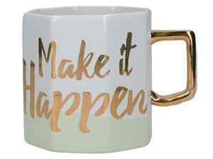 Ava & I Octagonal Mug Make It Happen 450ml
