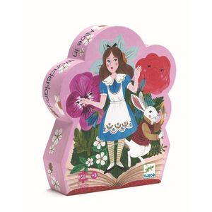 Djeco Silhouette Puzzles Alice in Wonderland [50 Pieces]