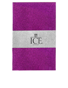 Ice London Glitter Notebook Purple