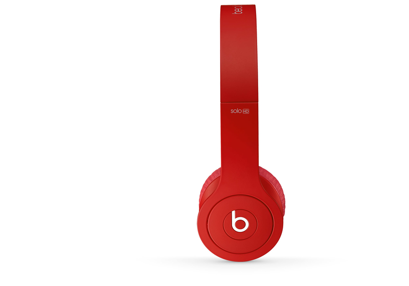Beats Solo Hd Drenched In Red Headphones