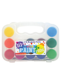 OOLY Lil Paint Pods Poster Paint & Brush [Set Of 12]