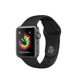 Apple Watch Series 3 38mm Space Grey Aluminum Case With Black Sport Band