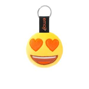 Emoji Hearts Eyes Official Yellow Keychain