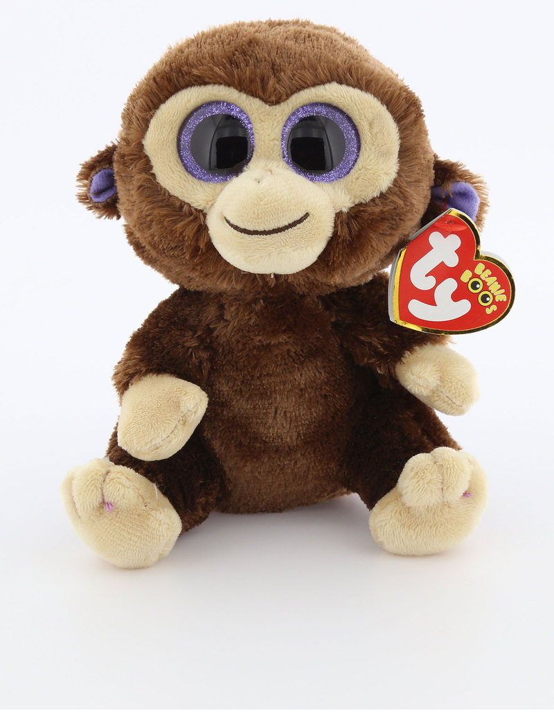 c430b0eeb19 Beanie Boos Monkey Coconut Brown Regular Plush 6 Inch